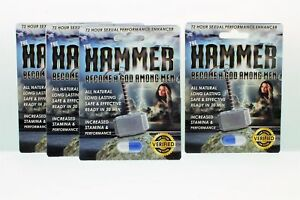 4pk-The-Hammer-Men-039-s-Powerful-Sexual-Health-Performance-Enhancing-Supplement