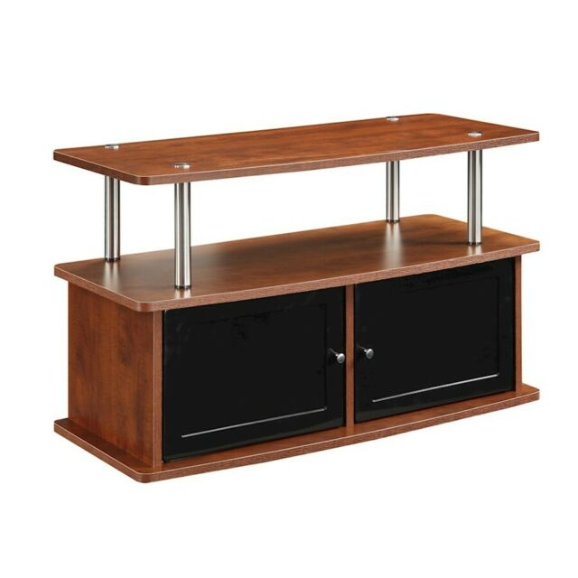 Convenience Concepts Designs2Go TV Stand with 2 Cabinets, Cherry - 151160CH