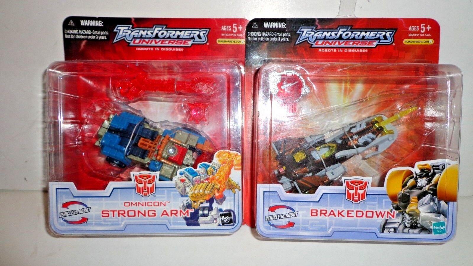 Transformers universe 2005 lot of 2 moc Strong Arm & Breakdown moc,misp,mib