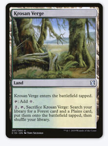 English Commander 2019 MTG Magic 4x Graypelt Refuge NM-Mint