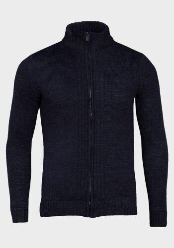 EX M/&S MENS High ribbed Neckline Wool Blend Knit Lightly padded Jacket  S M L XL