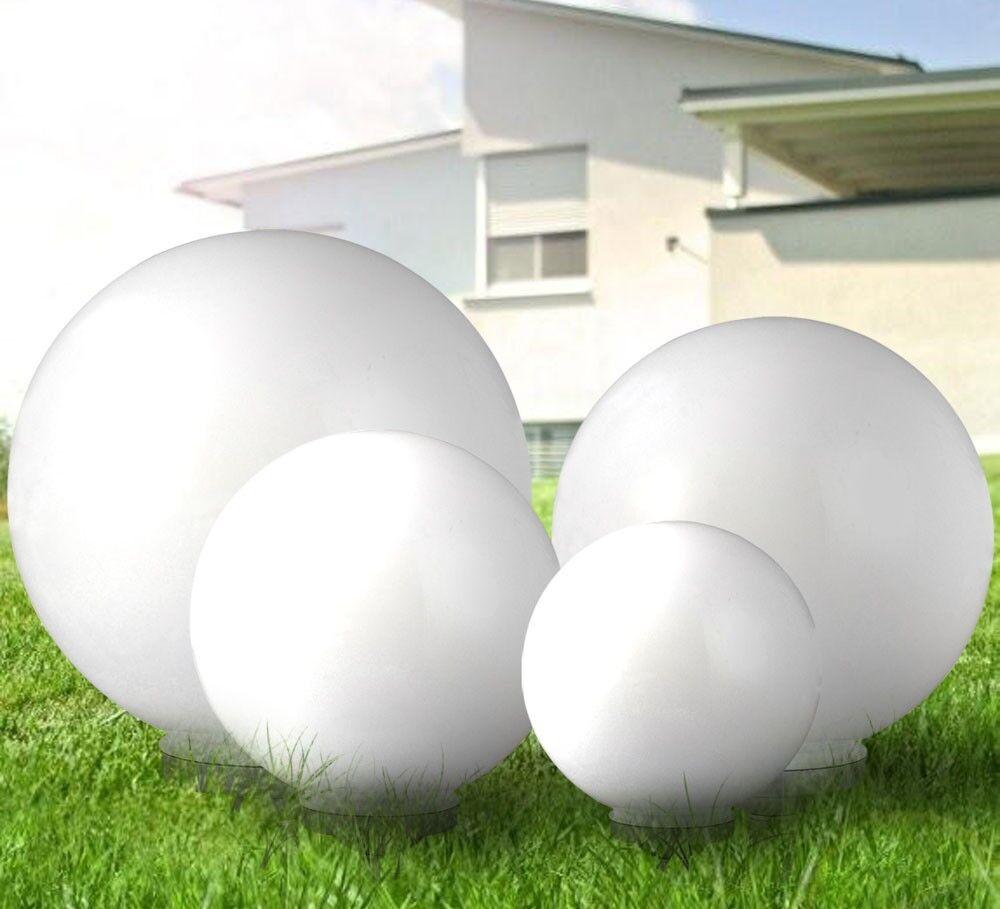 Set 4 luminaires solaires LED éclairage jardin lumière extérieur boule terrasse