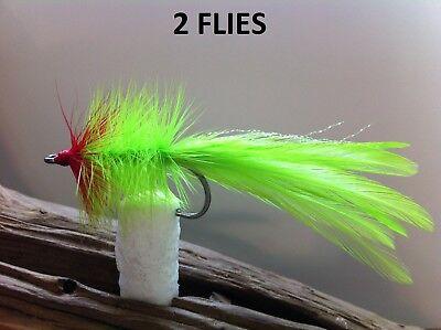 SEADUCER White//Pink CLASSIC FLY 2 FLIES 34007 #2 redfish tarpon  striper