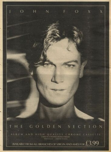 11083PN38 ADVERT JOHN FOXX ALBUM THE GOLDEN SECTION 15X11 FRAMED