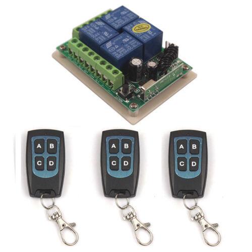 24 V 4CH Remote Switch 315//433MHz Multi Porte De Garage Télécommande Module Commutateur