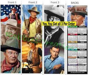Duke 2020 Calendar 3 JOHN WAYNE 2020 CALENDAR BOOKMARK Fan Card Art of the DUKE