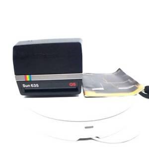 Polaroid-Sun-635-QS-film-camera-vintage-excellent-working-booklet
