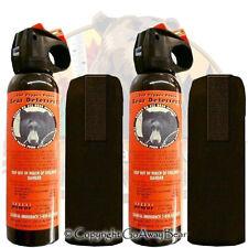 Lot of 2 UDAP Pepper Power Bear Spray w/ Holster 12VHP