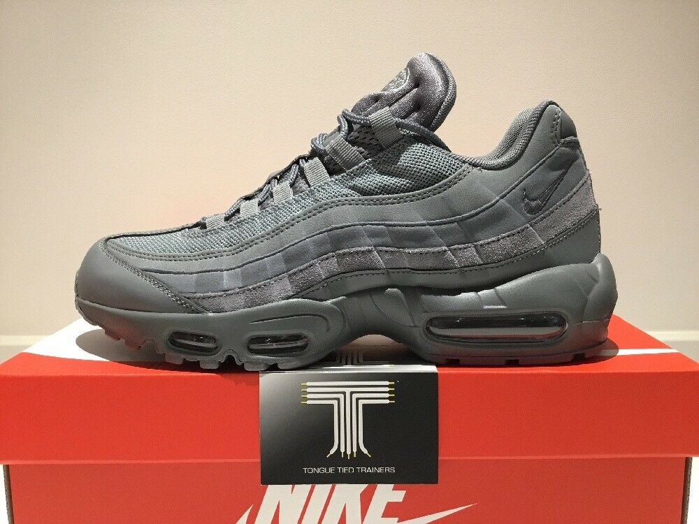 "Nike Air Max ~ 95 Essential ""Cool Grey"" ~ Max 749766 012 ~ Size 8 e7ebc9"