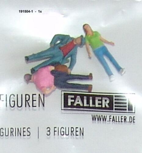 """Faller 191504-01 Piste h0 trois personnages /""""lors de se promener/"""" #neu dans neuf dans sa boîte #"""