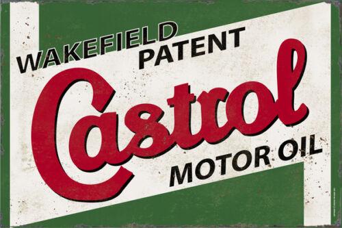 Castrol Motor Oil Wakefield Metal Sign