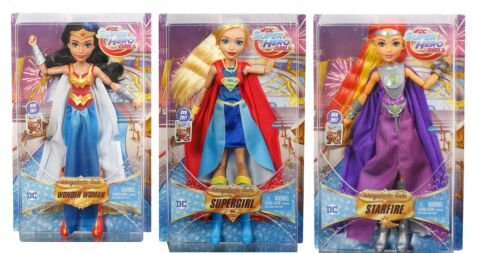 Intergalactic Gala Wonder Woman Supergirl Starfire DC Super Hero Girls 3 Dolls