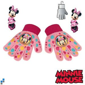 Disney-Minnie-Mouse-Kinderhandschuhe-Maedchen-Winter-Handschuhe-mit-PVC-Aufdruck
