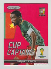 2014 PRIZM FIFA WORLD CUP CAPTAINS SAMUEL ETO'O RED PRIZM REFRACTOR CARD 111/149