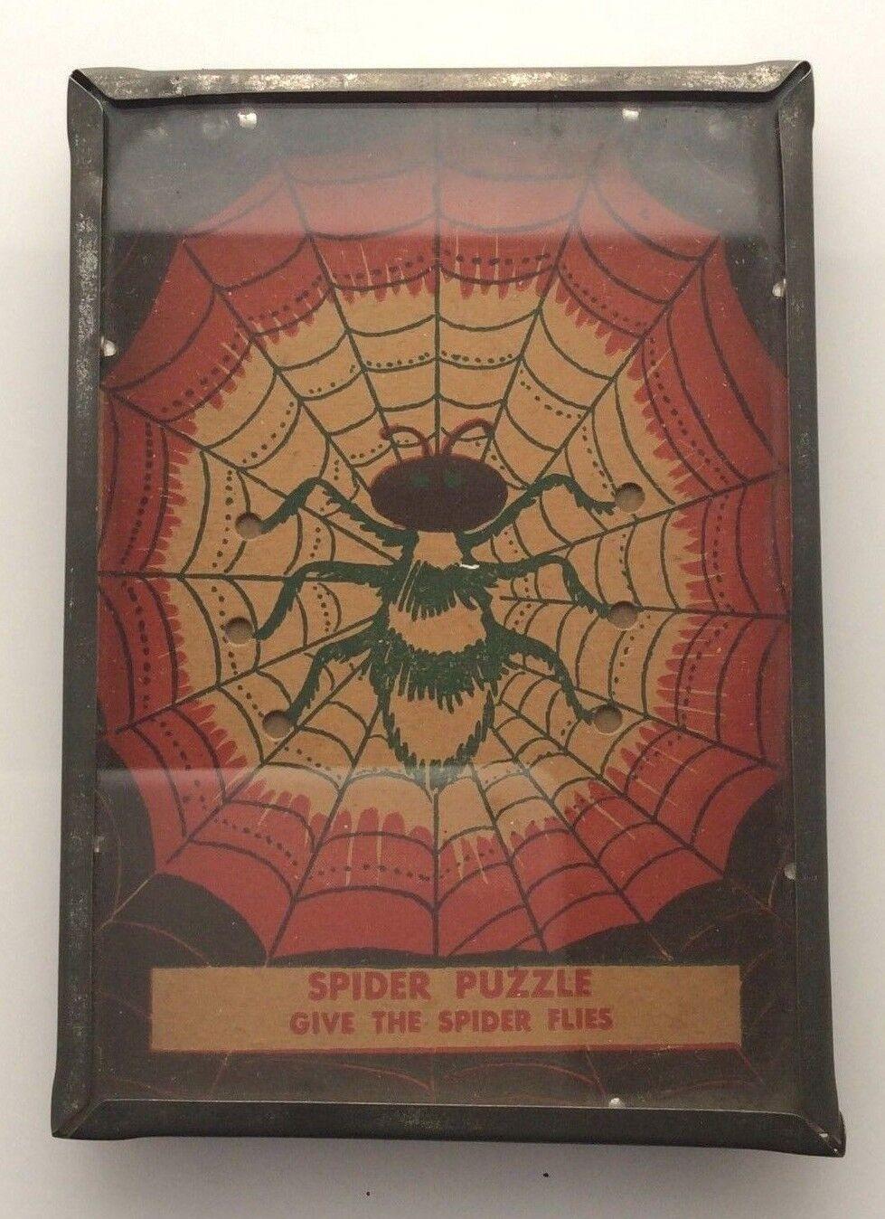 Vintage 1930's-40's Dexterity Spider Game NICE