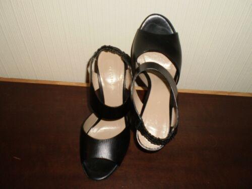 """Shoes Women's Sandals """"Nicole Farhi"""" Vero Cuoio Black Size:3-3.5 (UK) Eur 36"""