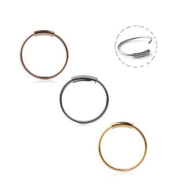 6317c12356c 22G Stainless Steel 8mm Hinged Segment Ring Hoop Ring Ear Lip Nose Septum  Ring