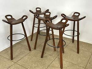 Five-Bar-Stools-Barhocker-Attributed-to-Carl-Malmsten-Sweden-Design-50er-60er