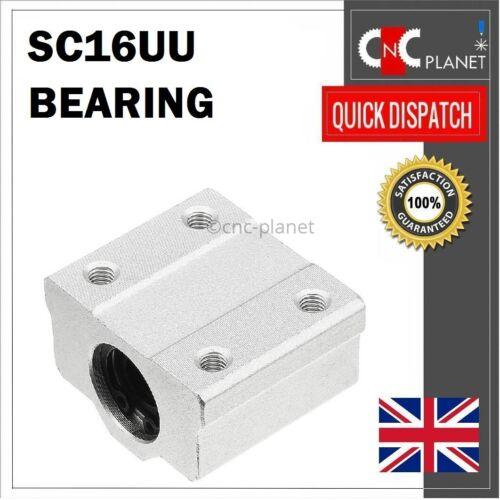 SC16UU Linear Motion 16 mm arbre coulissant Bearing Block 16 mm alésage SC 16UU UK Rapide