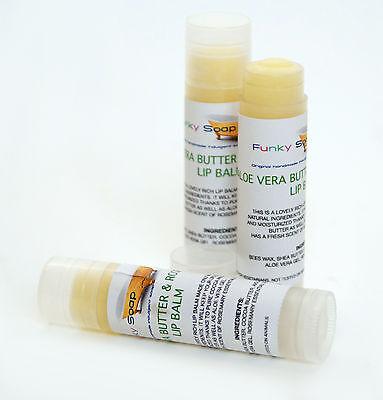 1 tube of 5g Aloe Vera Butter & Rosemary Lip Balm, Handmade & natural