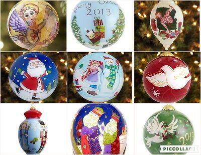 Li Bien Nativity Angel Christmas Glass Ornament Reverse painted Inside NEW RED