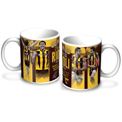 Hawthorn Hawks AFL Coffee Mug /& Coaster GIFT PACK Fathers Day *Latest Design*