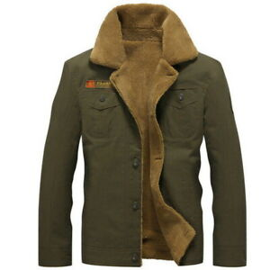 Winter-Bomber-Jacket-Men-Fleece-Jacket-Warm-Air-Force-Pilot-fur-Tactical-Jackets