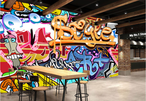 3D Letter color Graffiti 90 Wallpaper Mural Paper Wall Print Wallpaper Murals UK