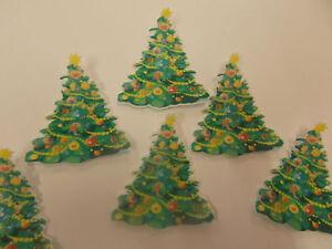 12 Precut Edible Christmas Xmas Trees Ebay
