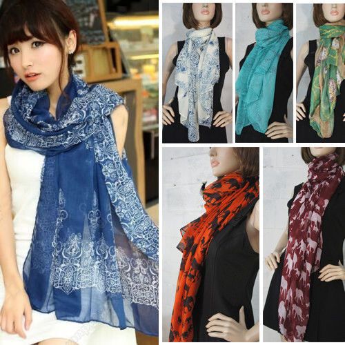 Best-Selling Fashion Scarf Women's Long Chiffon Wraps Shawl Stole Soft Scarves