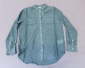 Club-Monaco-Women-039-s-Long-Sleeve-Chemise-Claudia-Shirt-GG8-Green-Vert-Size-XS-NWT