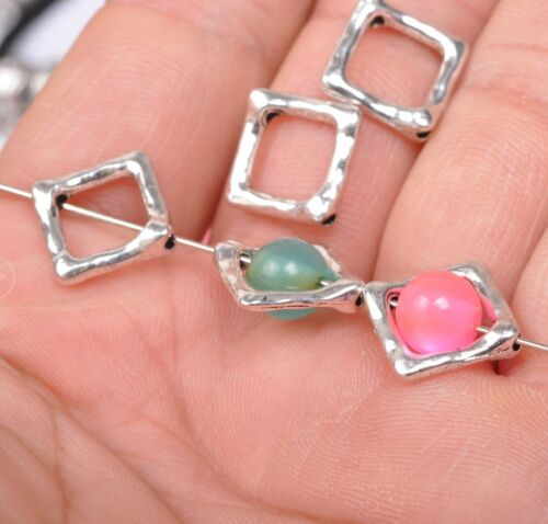 50pcs Tibetan Silver spacer Jewelry style frame Findings Spacer silvering Beads