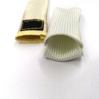 White /& Yellow High Temperature Resistant Fiberglass Welding Finger Sleeve