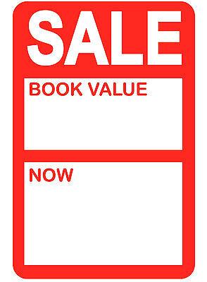 Fornitura 45 X 65mm Luminoso Rosso' Sale - Valore Libro 'prezzo Punto Adesivi/etichette