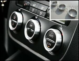 3-SILVER-AIR-VENT-RINGS-BUTTONS-DASHBOARD-FRAME-for-SKODA-OCTAVIA-1Z5-1Z3-04-08