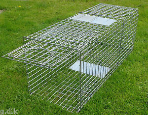 61-034-INCH-X-LARGE-PORTABLE-DOG-TRAP-HUMANE-STRAY-DOG-CAGE-CAPTURE-SAFELY-WILD