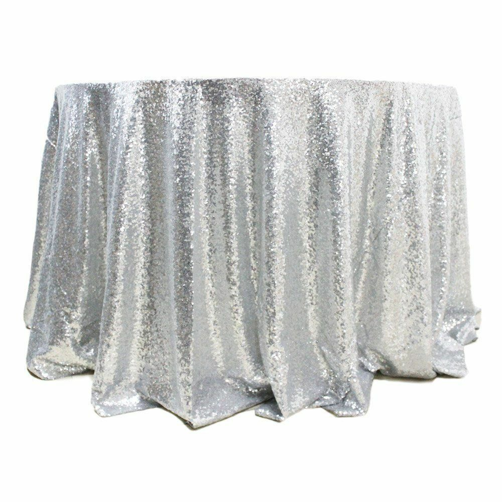 5 Sequin 132  ronde Nappes 4 Couleurs Mariage Overlay table Made in USA