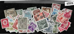 Third Reich stamp lot 100 All different 1933-1945 Germany & Occupation WWII