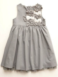 d0905e03c244 Image is loading 3-Pommes-Little-Girls-Grey-Summer-Dress-4-