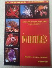 ANCIENNE DOCUMENTATION/IMAGES SCOLAIRE ARNAUD N°126 INVERTÉBRÉS DE 1976