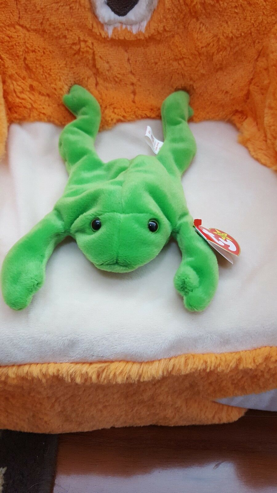 TY Beanie Baby Legs the Frog style 4020 with ERRORS VERY RARE style 4020 4-23-93