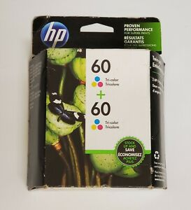 HP-Genuine-60-Tri-Color-Ink-Cartridge-2-Pack-New-Expires-FEB-2020-NEW-Sealed
