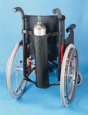 Oxygen Tank For Sale >> Oxygen Tank Holder For Wheelchair Black Nylon Fits D And E Tanks 706201000 Sale Ebay