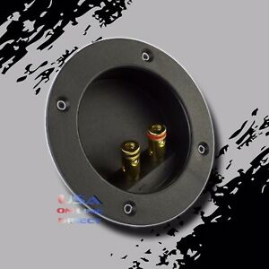 2-PC-SUBWOOFER-CONNECTOR-BINDING-POST-SPEAKER-JACK-BOX-TERMINAL-SCREW-CUP-PLATE