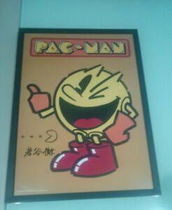 Poster-PAC-MAN-firmado-por-Toru-Iwatani-firma