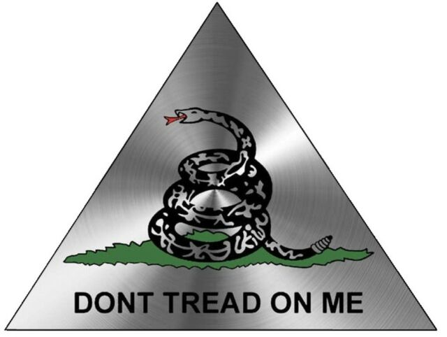 DON'T TREAD ON ME STICKER SILVER TR LAPTOP STICKER BUMPER STICKER TOOLBOX DECAL