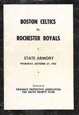Oct 27 1955 Celtics/Royals Program Signed Rookie HOF Maurice Stokes/Twyman JSA