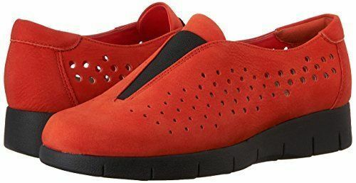 NEW CLARKS DAELYN SUMMIT orange PERFORATED TOP LEATHER SLIP ON LOAFER SIZE US 11