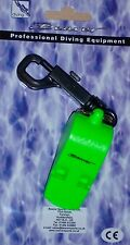 Very loud emergency Scuba Diving survival whistle +snap clip lime or orange
