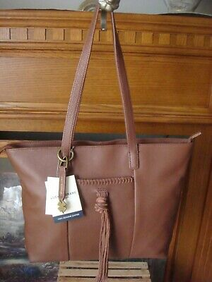 NWT $198 Women/'s Lucky Brand Carmen Black  Leather Tote Bag Purse ~See Receipt